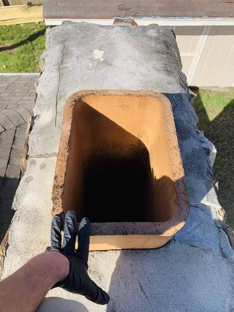 Advanced Fireplace Technician newly installed chimney