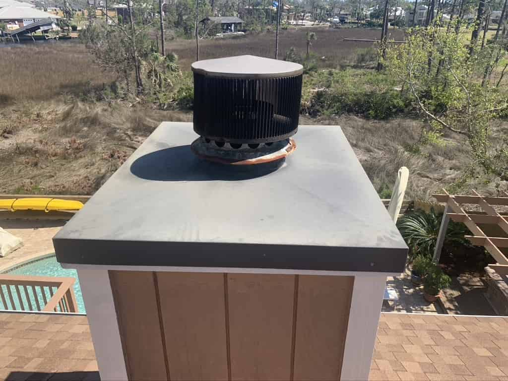 AFT installs new chase cover and cap after storm in Daphne
